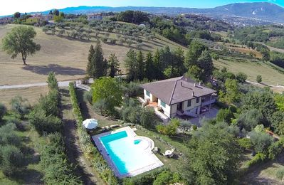 Photo for Holiday Villa with private pool, solarium and stunning views over the valley