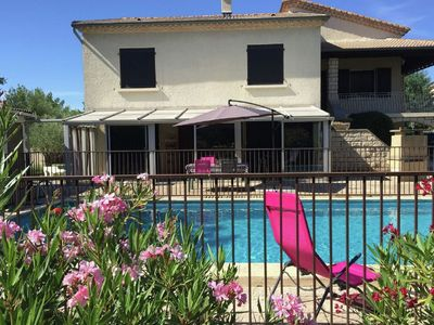 Photo for Detached holiday home with swimming pool in the Languedoc Roussillon region