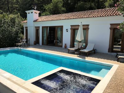 Olive Grove Villa, pool, whirl pool & building