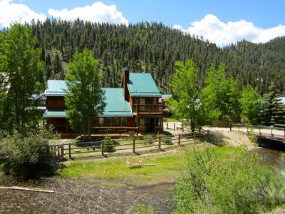 Photo for On the River!  Luxury Red River Cabin W/ Pool Table-In Town-2 balcony, 3 Kings