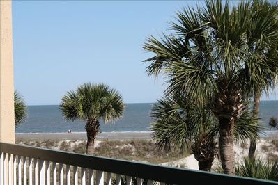 See and hear the Ocean from our balcony less than 100 yards from the Ocean.