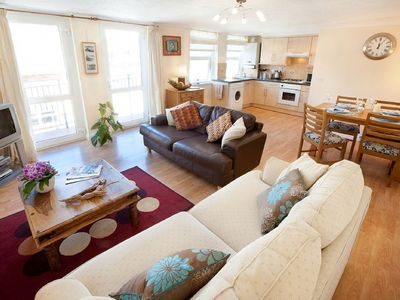 Photo for Spacious 2 bedroom apartment within walking distance of Woolacombe beach, complete with own parking