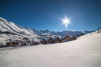 Enjoy being situated in the heart of the mountains just a short distance away from the pistes.