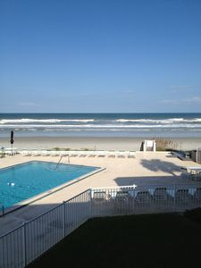 Direct oceanfront view from our AMAZING, private balcony!!  Paradise awaits you!