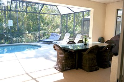 Pool and Lanai with spacious dining area
