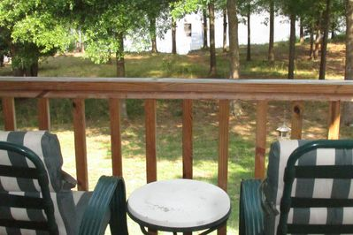 The Boat Dock is visible from the back porch and from the living room.
