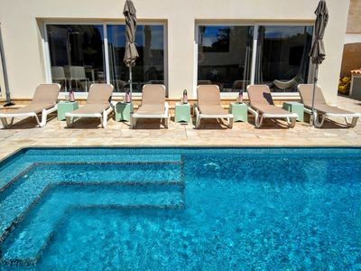 Photo for Modern new chalet, sea view, large swimming pool (heated), close to the beach - 6 pers.