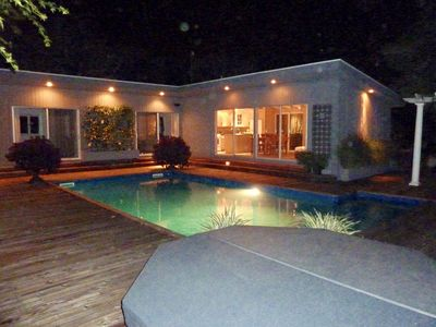 Photo for Fire Island PINES Resort Immaculate, Stylish , Huge heated Pool w/ Spa ,privacy
