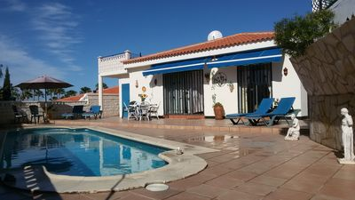 Photo for Lovely three-bedroom villa with private heated pool in  Callao Salvaje