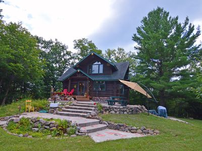 Photo for Secluded Custom Log Home on 34 acres