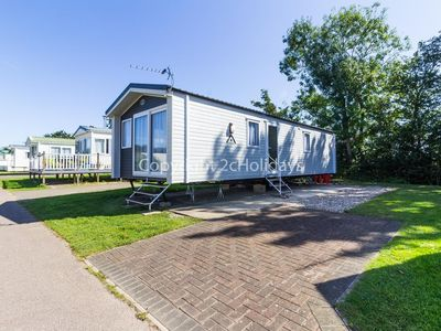 Photo for 6 berth 2019 model caravan for hire at Carlton meres holiday park ref 60035 O