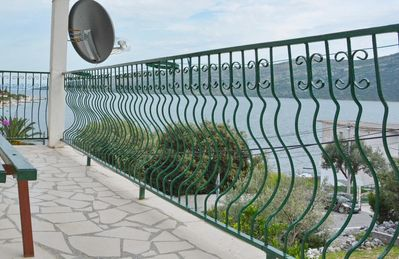 Photo for Two bedroom apartment with balcony and sea view Poljica (Trogir)