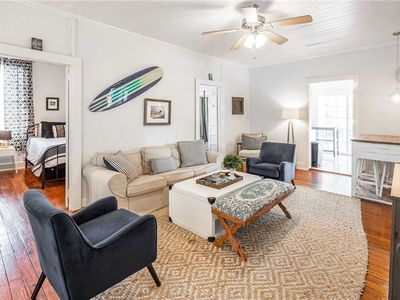 Photo for Sea Salt Cottage | Renovated Folly Beach Home, Steps from Beach, Huge Deck/Porch, Grill & More!