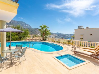Photo for Apple Apartment: Swimming Pool, Walk to Beach, Sea Views, A/C, WiFi, Car Not Required, Eco-Friendly