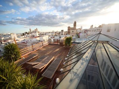 Photo for amazing 2 rooftop flat wifi historic center,close to beach