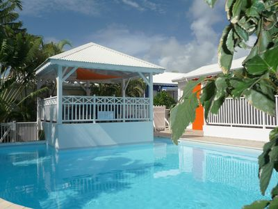 Photo for LES VILLAS CREOLES residence 70 meters from a lagoon - Villa BOUGAINVILLIERS