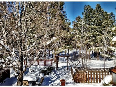 Photo for Wooded Golf Course Views! 5 Bdrm Lodge Home w/ Country Club Access
