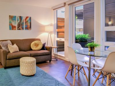 Photo for Stylish Modern Suite One Block from Pike Place Market! Brand New, Pet Friendly with Pet Spa!