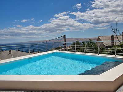 Photo for Apartment Kathy with pool and stunning views of the sea and Karlobag