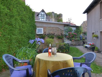 Photo for 2-person studio in the oldest half-timbered house in Blankenburg with terrace