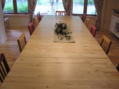 Large dining table seats 18 or more