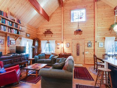 Photo for Family- and dog-friendly lodge with bikes, jetted tub, & ramp access