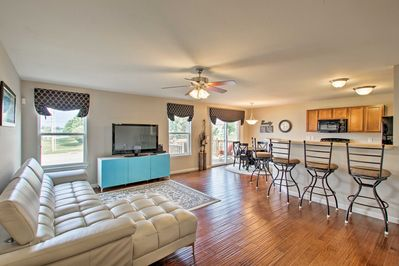 The vacation rental boasts 1,719 square feet of well-appointed living space.