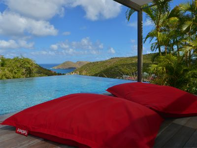 Modern and luxurious 5 master bedroom villa in Flamands, St. Barths. Perfect for big families or gro
