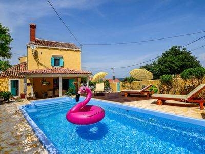Photo for This 3-bedroom villa for up to 8 guests is located in Nerezine and has a private swimming pool, air-