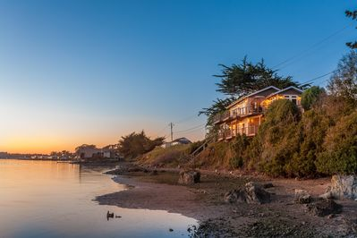 The Birdwatch is a stunning home located on the water's edge in Bodega Bay.
