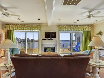 Photo for Big Bayfront Home in N. OCMD - Wi-Fi, Pool, Boat Slip, Great View!