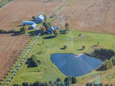 Photo for Beautifully appointed 1860 stone farmhouse on 100 acres of private property.