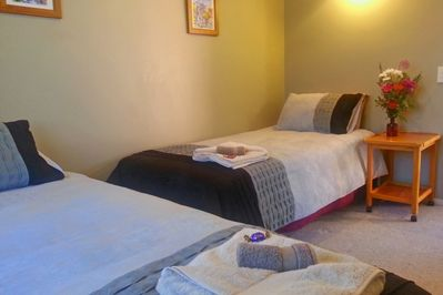 Option of 2 king single beds in the second bedroom