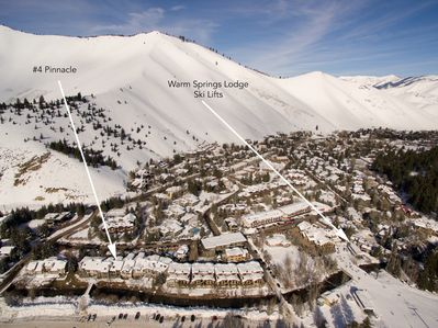 Our home on Warm Spring Creek and Bald Mt. Ski Area.
