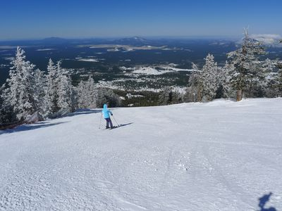 Bring the family and enjoy nearby Snowbowl skiing!
