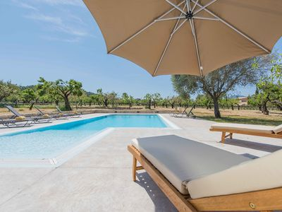 Photo for This 4-bedroom villa for up to 8 guests is located in Selva (Majorca) and has a private swimming poo