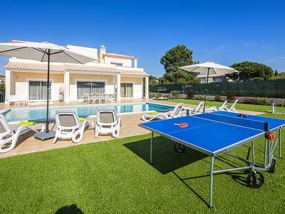 Photo for Luxury modern 4 bedroom villa with heated pool, table tennis and free wifi