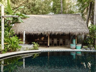 Photo for Robust House Built with Black Stones in Seminyak, Experience a Distinctive Stay!