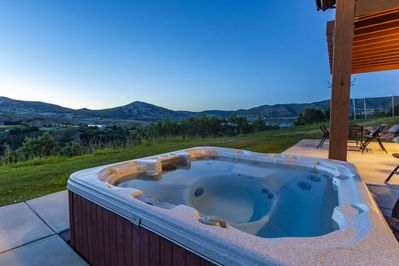 Located off the Back Terrace is a Private Hot Tub With Mountain and Lake Views!