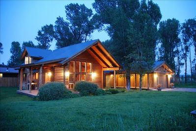 Welcome to our custom designed log and reclaimed wood home.