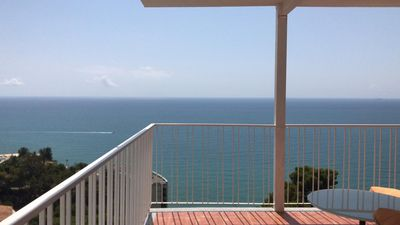 Photo for AMAZING VIEWS ATIC APARTMENT, BENICASSIM, LOVELY PRIVATE BEACH 5MIN WALK