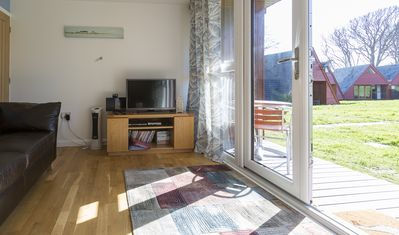 Photo for This chalet is set in a lovely holiday park on the cliffs above Kingsdown beach.