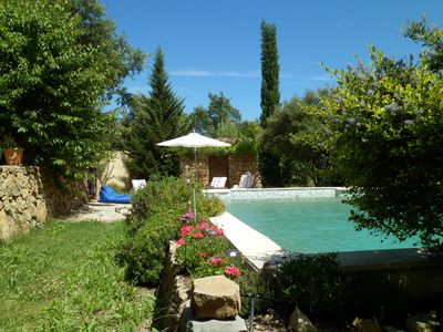Photo for Small house with swimming pool surrounded by nature between the sea and the Verdon