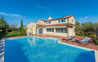 Photo for Newly built stone villa Mia with garden and pool