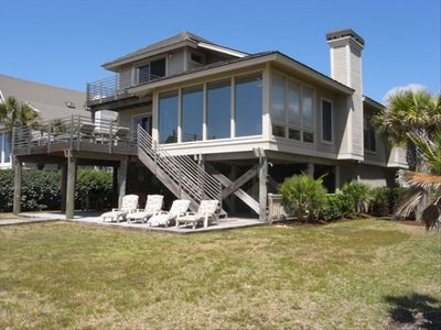 Photo for *Oceanfront Home* Private path to beach *Walk to shops and restaurants