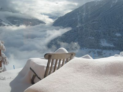 Photo for Single chalet with special comfort in the middle of the ski area 4-vallées, Valais