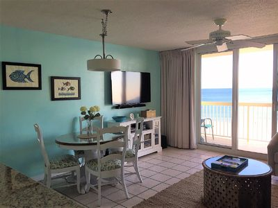 "Direct oceanfront with 55"" smart TV, sound bar, DVD player, & Bluetooth stereo"