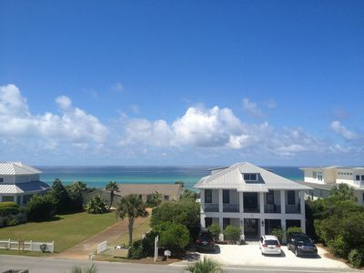 Photo for Gulf Views from this Beautiful 3 BR, Pet Friendly townhome!  Walk to the Beach!