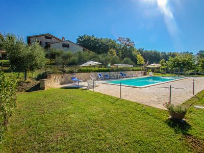 Photo for Secluded villa with private pool in the Umbria hills, quiet area. 7 bedrooms