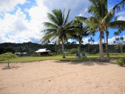 Photo for Beachfront Romantic for 2 or Budget Family